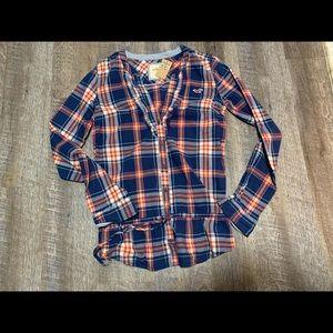 Hollister button down flannel